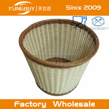 China PP Plastic Rattan Bread Basket - recycled newspaper basket