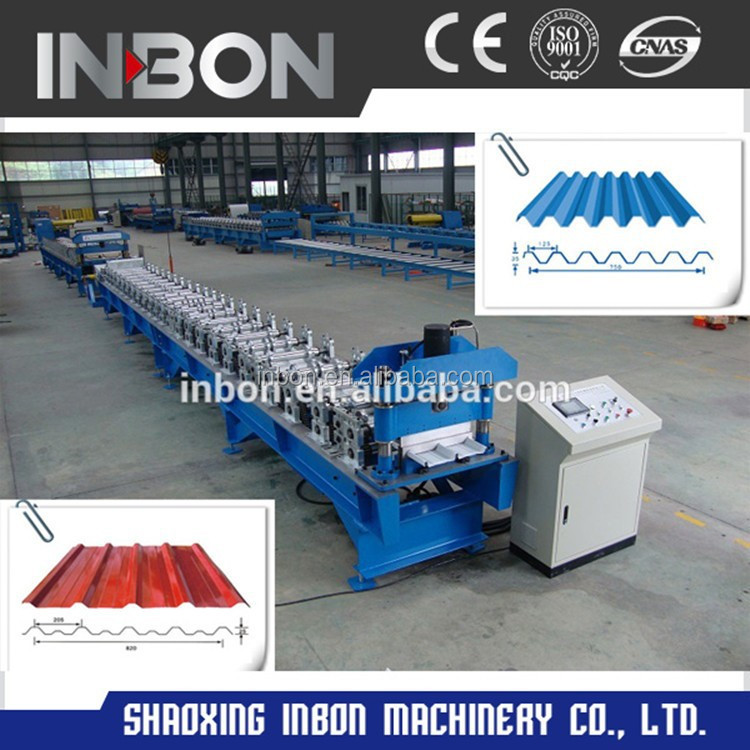 Roman type metal glazing roof tiles making machine