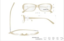 Design high quality acetate optical frame eyeglass with diamond and pearl in the temple