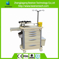 BT-EY003 China manufacturer CE ISO 5 drawers medical dressing cart