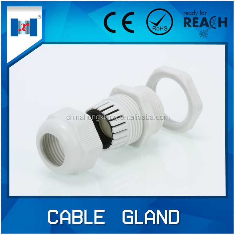 HongXiang waterproof plastic rubber shroud cable gland with IP68
