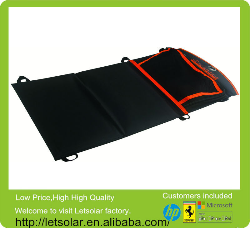 New product high efficiency 18W USB DC output amorphous silicon thin film flexible solar panel