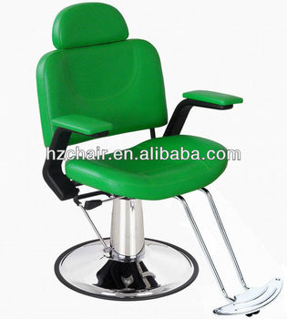 Green color styling chairs salon chairs hairdressing for Colored salon chairs