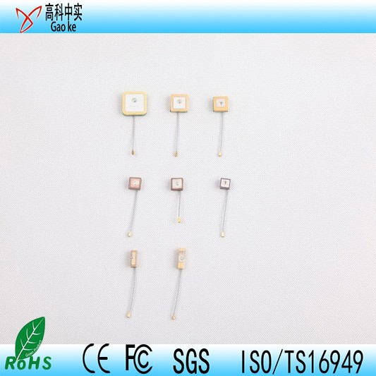 high gain heavy frequency active gps ceramic patch antenna