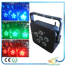 Dj lighting and stage effects flat par light led 4in1