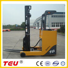 CHINA TEU 1.8TON SMALL ELECTRIC REACH FORKLIFT WITH 3.0M MAST AC MOTOR