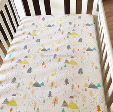 Colorful trees baby bedding soft cute design cotton cot sheet fitted crib sheet bed sets