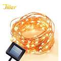 Solar LED String Lights Copper Wire Tree Light Decorative Gardens Christmas Holiday Wedding Parties Home Warm White