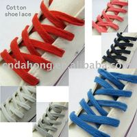 flat cotton shoelace