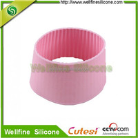 New custom hot cup sleeve heat resistant silicone handle cup sleeve