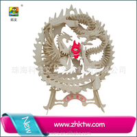 Cotowins dragon phoenix Lovely animal model kit wedding craft wooden puzzl