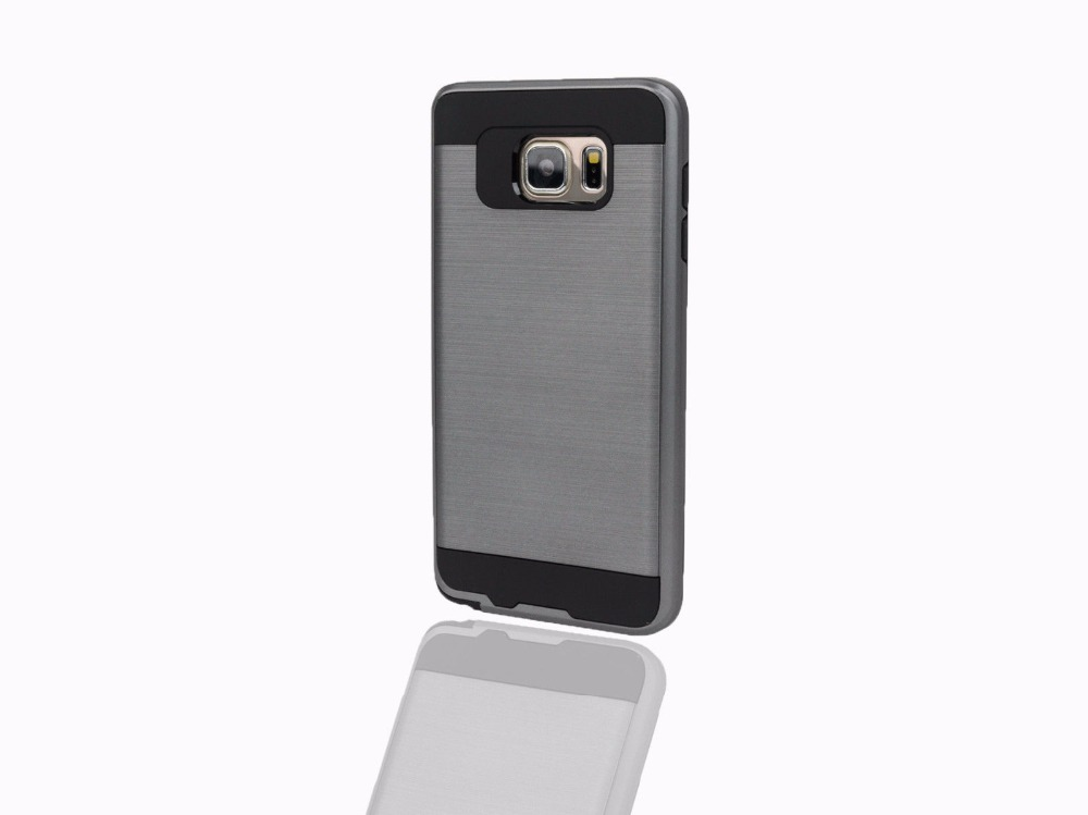 Customized Metallic Brush Extreme Shockproof Case Cover for Samsung Galaxy S6 S7 edge