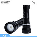 Diving Powerful LED Flashlight Diving Equipment X8