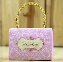 Special design cheap candy box chocolate gift paper bag small for wedding