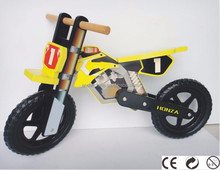 Ander 12 inch indoor and outerdoor toys wooden frame motorcycle kids balance kick bike