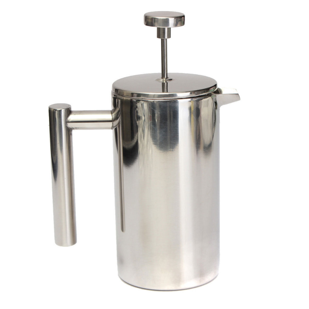 1liter double wall stainless steel french press coffee maker french coffee press buy french. Black Bedroom Furniture Sets. Home Design Ideas
