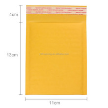 LOW MOQ, custom design kraft yellow express envelope from munufactory