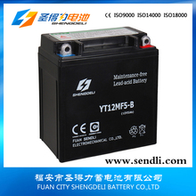 12N5-3B 12V5Ah Motorcycle battery by motorcycle parts manufacturers