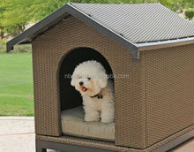 Modern KD wicker rattan pet house dog cages and rattan dog kennel