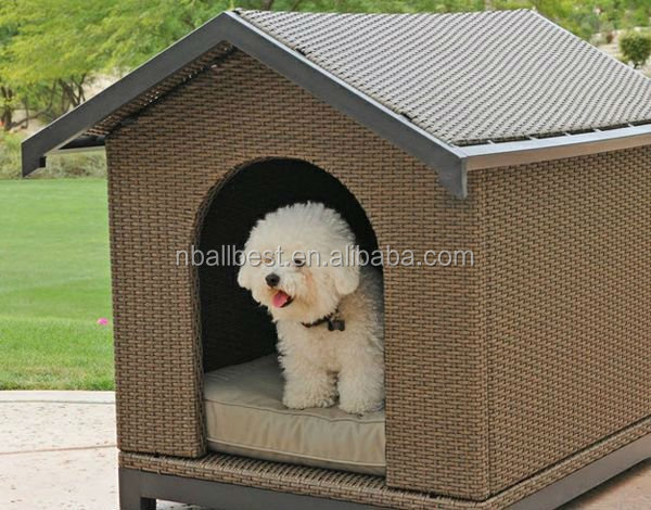 Modern KD wicker rattan pet house / god cages / rattan dog kennel