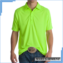 New Design Top Quality 100% Polyester Men's Dry Fit Golf Polo T Shirt With Sword Head Placket