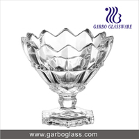 high quality glass ice cream sundae cup
