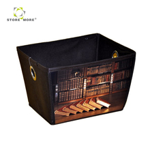 2018 Hot Sale Front PP Printing Living Box Storage bins fabric storage box