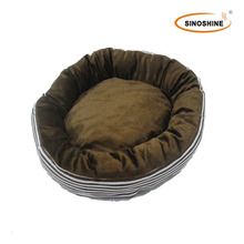 Electric heated Pet Bed, Available in Various Designs, Made of Cotton, Polyester Fabric or Plush with Poly