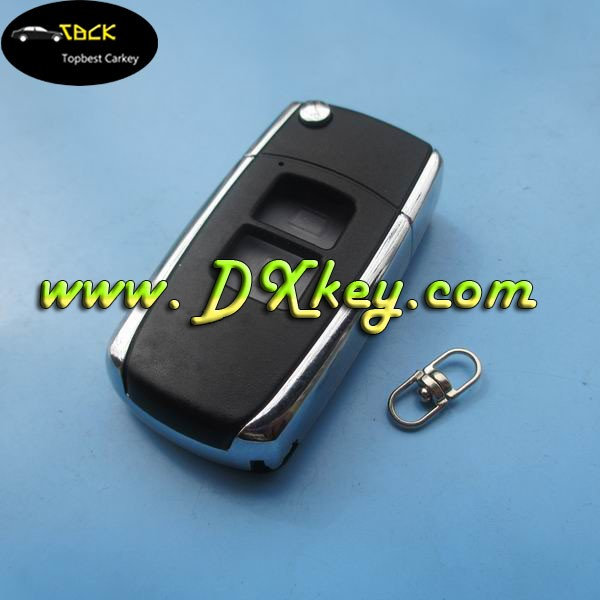 2 buttons modified remote control case cover car keys for Toyota blank key