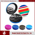 hot sales Round shaped euro,usd,aud,yen RFID aluminum waterproof coin purse