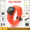 outdoor survival paracord rope bracelet camping equipment