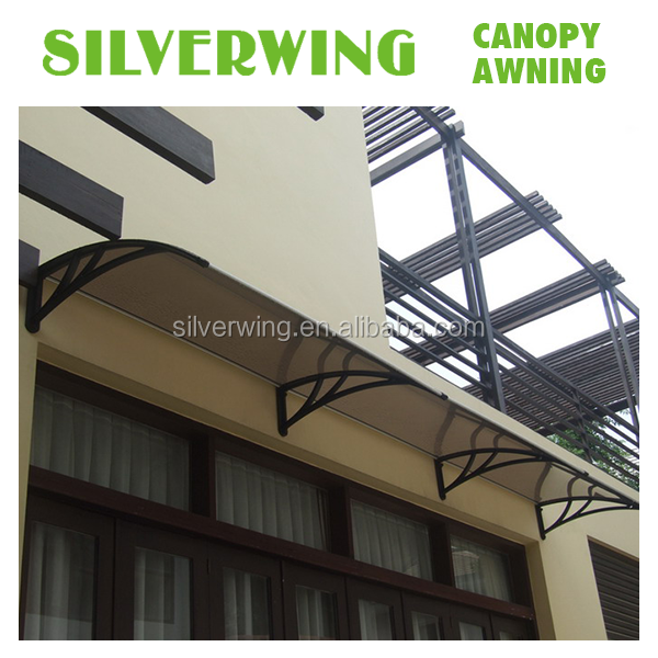 Transparent UV Rain Sunshine PC Patio Cover Kit for Door Balcony Window Outdoor Awnings Canopy