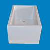 white artificial marble massage bathtub , acrylic solid surface molded bath tub