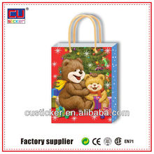 christmas customized synthetic paper bag