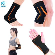 China Professional ankle wrist sleeve support /elbow knee pads sets/sports satety sets