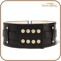 new trendy slim design leather belt body leather belt with rivets for women