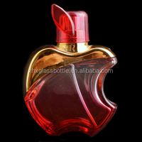 popurlar 50ml empty red design apple glass perfume bottle