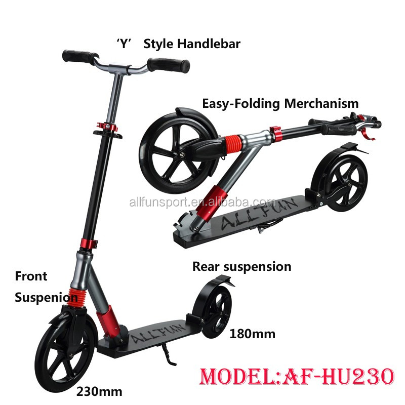 Adult 4 wheel push scooter