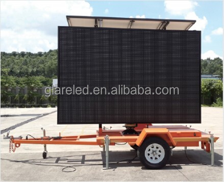 Portable Radar Speed Moving Screen Board Road Traffic Control Equipment Led Cantilever Variable Message Sign