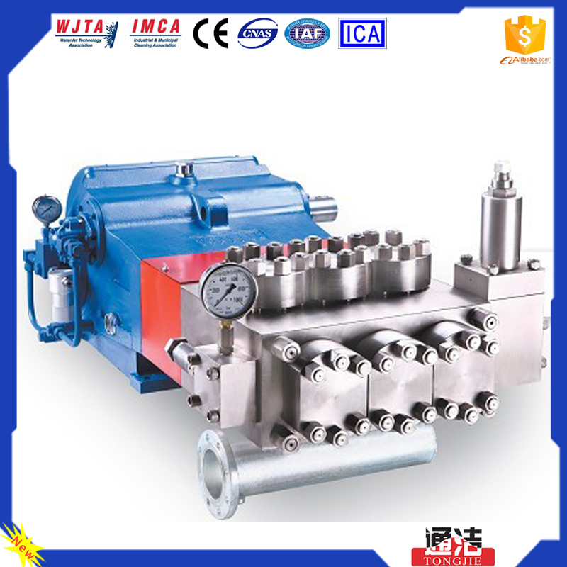 Electric motor & Diesel engine 267kw Triplex High Pressure Plunger Pumps
