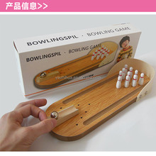 Yiwu factory wholesale and parent-child interactive wooden mini bowling