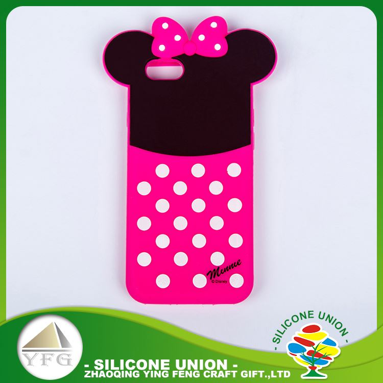 Favorable quality lovely logo silicone bulk cell phone case