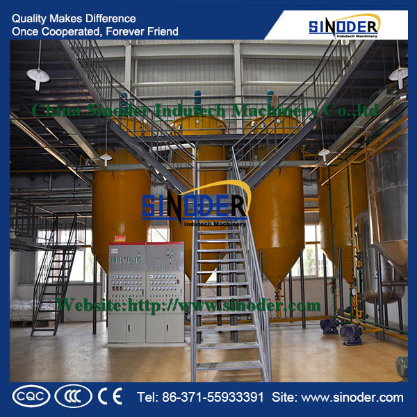 crude oil refinery /mini oil refinery with degumming decoloring deodorization dewaxing process