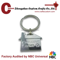 Promotional custom blank metal keyrings/keyring with keychain custom logo