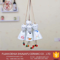 Lovely Moscot Cat Ceramic Wind Chimes Wholesales