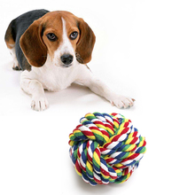 Free sample organic cotton rope pet toy for training dog detal chewing