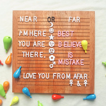 2018 NEW 10x10inch Changeable walnut letterboard letter board wooden handicrafts message letter board