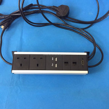 UK power multimedia Invisible installation under the table electric power socket/ under desk mounted connector panels socket