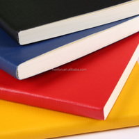 2016 PU leather simple cover vivid color school notebook