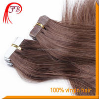 Unprocessed virgin hair Cambodian human hair tape in hair extensions